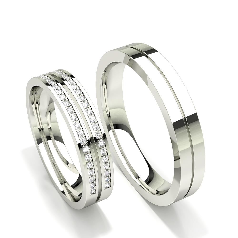 Diamonds Studded Half Eternity Womens Wedding Band