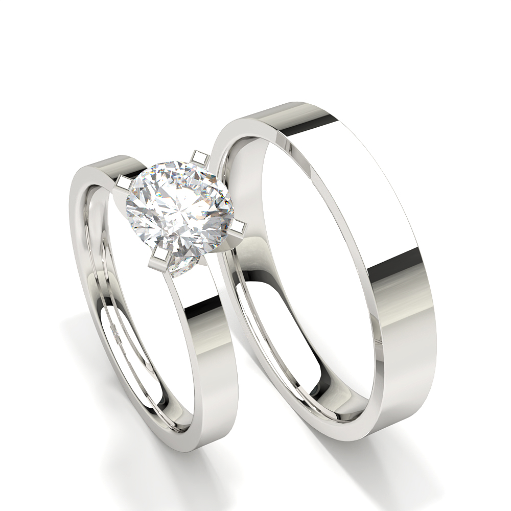 Prong Set Solitaire Diamond Womens Engagement Ring