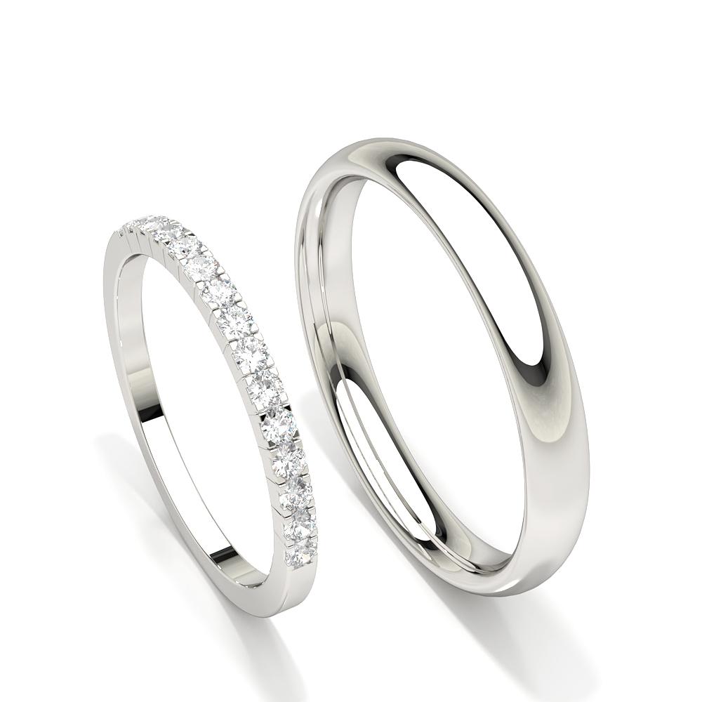 Bague de mariage femme diamant serti griffes