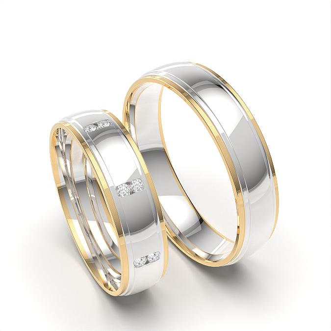 Paares passendes Ehering für Damen und Herren