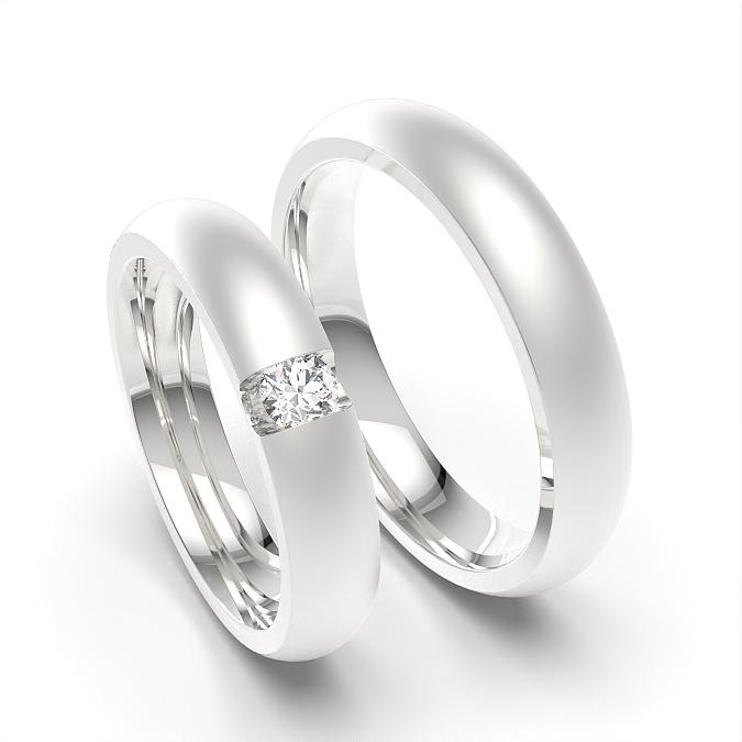Kuppelprofil Damen und Herren passenden Ehering