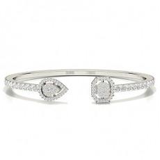 Zinkeneinstellung Rundes Diamant-Abendarmband