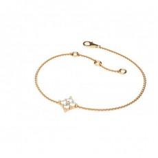 Rundes Petite Diamantarmband in einer 4 Krappenfassung