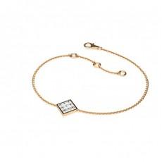Petite Diamantarmband in einer unsichtbaren Fassung