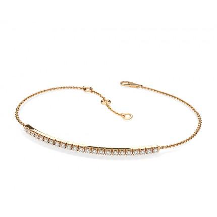 4 Prong Setting Round Diamond Delicate Bracelet