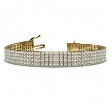 Gelbgold Mehrreihige Tennis Armbänder