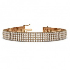 Rose Gold Multi Row Tennis Bracelets