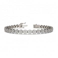 Prong Set Cluster Tennis Bracelet