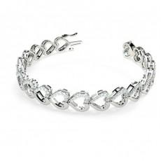 Runde Diamanten pave gefasst in einem designer Armband