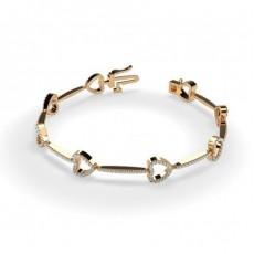 Rotgold Designer-Armbänder