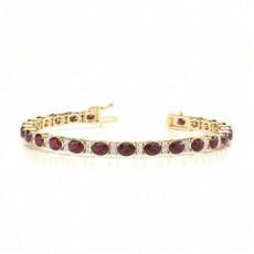 Gelbgold Edelstein Armbänder