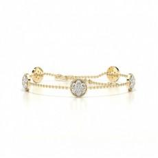 Gelbgold Zierliche Armbänder