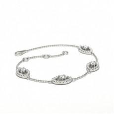 Bracelet délicat à 4 griffes de diamants ronds