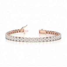 Bracelet de tennis sertis illusion diamant ronde