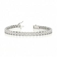 Illusion Set Diamond Tennis Bracelet