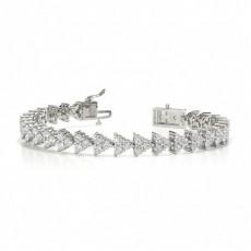 Runder Diamant-Designer-Armreif in einer 4-Krappen-Fassung