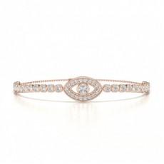Bezel & Pave Delicate Diamond Bracelet