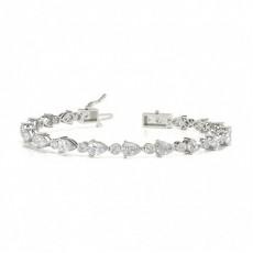 Prong Setting Round Diamond Designer Bracelet