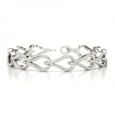 Runde Diamanten Krappen gefasst in einem designer Armband