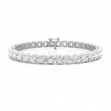 Illusion Prong Einstellung rundes Diamant-Tennisarmband