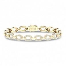Bracelet à maillons diamants ronds serti pavé