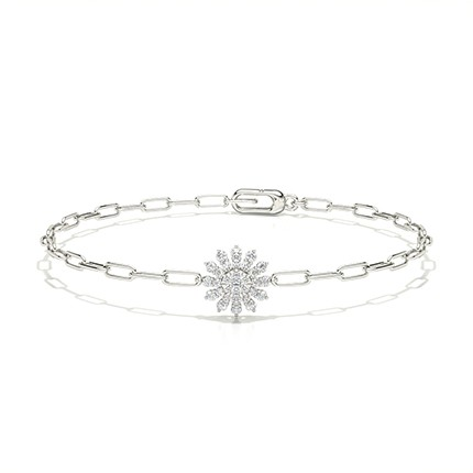 Micro Prong Round Diamond Everyday Bracelet