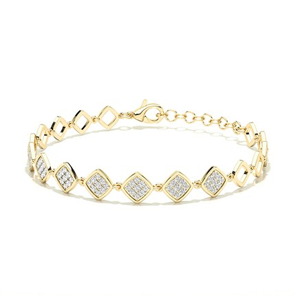Micro Prong Setting Round Diamond Everyday Bracelet