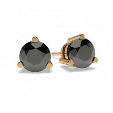 Rotgold Schwarze Diamant Ohrringe