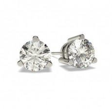 Platin Diamant Ohrstecker Ohrringe