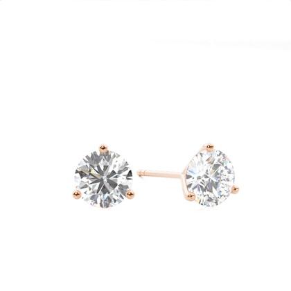 Rotgold Diamant Ohrringe