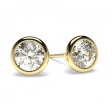 Gelbgold Diamant Ohrstecker Ohrringe