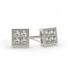 Princess Cluster Earrings