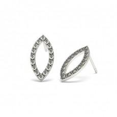 Designer Brilliant Diamant Ohrstecker in einer Krappenfassung