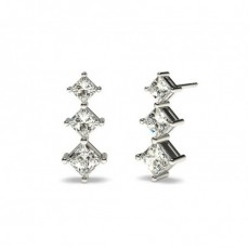 Prinzessin Diamant Ohrhänger Ohrringe