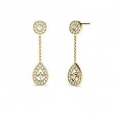 Yellow Gold Drop Earrings