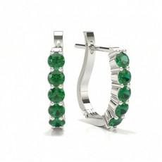 Brilliant Smaragd Ohrringe