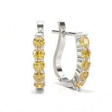 Creoles diamant jaune