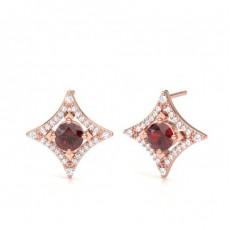 Rose Gold Gemstone Earrings