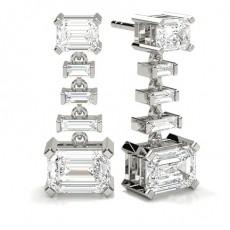 Smaragd  Diamant Ohrringe