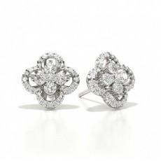 Boucle d'oreille de diamant blanc