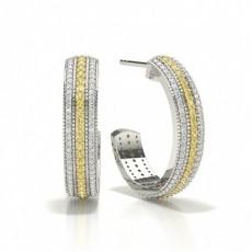 Brilliant Gelber Diamant Ohrringe