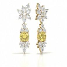 Gelbgold Diamant Designer Ohrringe