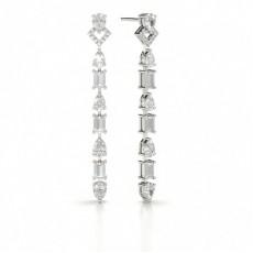 Birne Designer Diamant Ohrringe