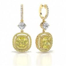 Gelbgold Gelber Diamant Ohrringe