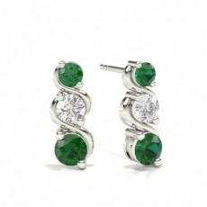 Platinum Gemstone Earrings