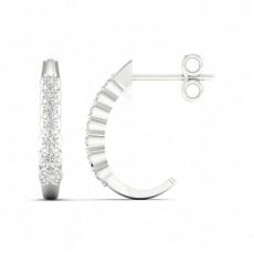 Runde Diamant Designer Ohrringe in einer Krappenfassung