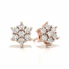 Rose Gold Stud Diamond Earrings