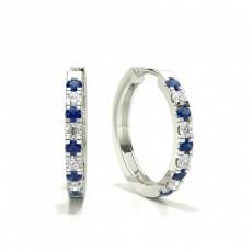 Round Sapphire Earrings