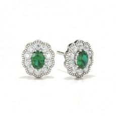 Oval Smaragd Ohrringe