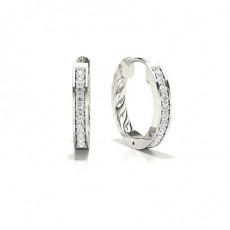 Platin Diamant Ohrringe